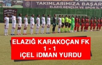 Elazığ Karakoçan FK 1 - 1 İçel İdman Yurdu