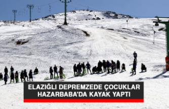 Elazığlı Depremzede Çocuklar, Hazarbaba'da Kayak Yaptı