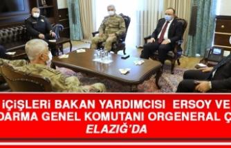 İçişleri Bakan Yardımcısı Ersoy ve Jandarma Genel Komutanı Orgeneral Çetin Elazığ'da