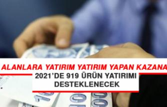 2021'de 919 Ürünün Yatırımı Desteklenecek