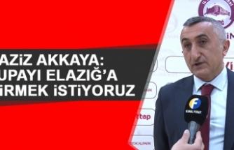 Aziz Akkaya: Kupayı Elazığ'a Getirmek İstiyoruz