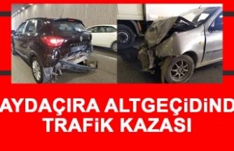 Çaydaçıra Altgeçidinde Trafik Kazası