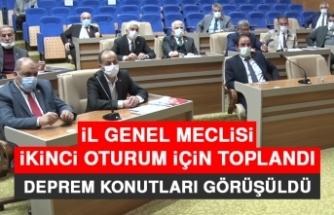 İl Genel Meclisi İkinci Oturum İçin Toplandı