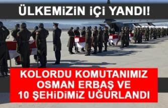 Kolordu Komutanımız Osman Erbaş ve 10 Şehidimiz Uğurlandı
