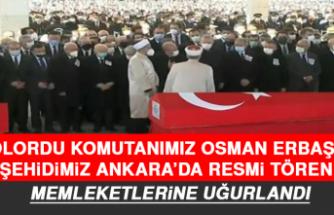 Şehitlerimiz İçin Ankara'da Resmi Tören