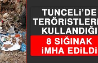 Tunceli'de Teröristlerin Kullandığı 8 Sığınak İmha Edildi