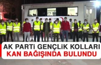AK Parti Gençlik Kolları Kan Bağışında Bulundu