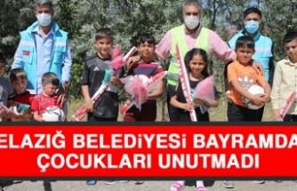 Elazığ Belediyesi Bayramda Çocukları Unutmadı