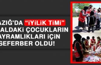 """Elazığ'da """"İyilik Timi"""" Kırsaldaki Çocukların Bayramlıkları İçin Seferber Oldu"""