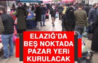 Elazığ'da Beş Noktada Pazar Yeri Kurulacak