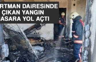 Apartman Dairesinde Çıkan Yangın Hasara Yol Açtı