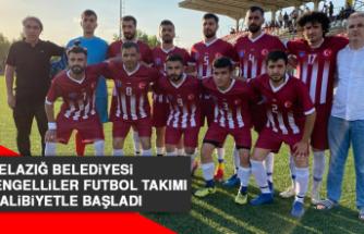 Elazığ Belediyesi İşitme Engelliler Futbol Takımı Galibiyetle Başladı