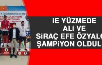 İE Yüzmede Ali ve Siraç Efe Özyalçın Şampiyon Oldular