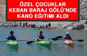 Özel Çocuklar Keban Baraj Gölü'nde Kano Eğitimi Aldı