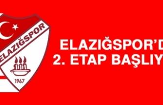 Elazığspor'da 2. Etap başlıyor