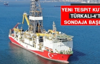 Fatih Sondaj Gemisi Yeni Tespit Kuyusu Türkali-4'te Sondaja Başladı