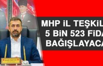 MHP İl Teşkilatı 5 Bin 523 Fidan Bağışlayacak
