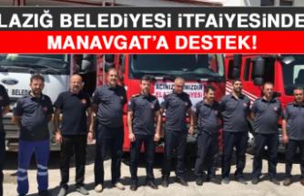 Elazığ Belediyesi İtfaiyesinden Manavgat'a Destek