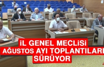 İl Genel Meclisi Ağustos Ayı Toplantıları Sürüyor