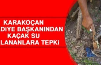 Karakoçan Belediye Başkanından Kaçak Su Kullananlara Tepki