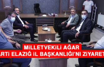 Milletvekili Ağar, AK Parti Elazığ İl Başkanlığı'nı Ziyaret Etti