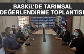 Baskil'de Tarımsal Değerlendirme Toplantısı Düzenlendi