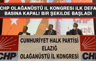 CHP Olağanüstü İl Kongresi İlk Defa Basına Kapalı Bir Şekilde Başladı