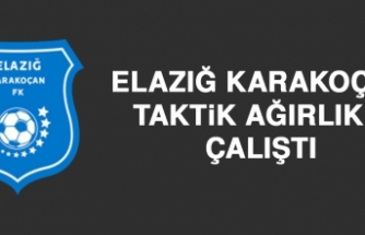 Elazığ Karakoçan FK Taktik Ağırlıklı Çalıştı