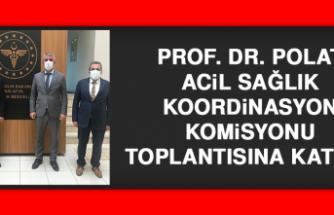 Prof. Dr. Polat Acil Sağlık Koordinasyon Komisyonu Toplantısına Katıldı