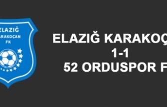 Elazığ Karakoçan FK 1-1 52 Orduspor FK