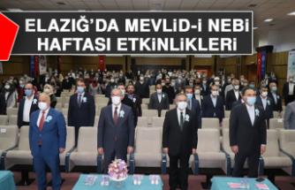 Elazığ'da Mevlid-İ Nebi Haftası Etkinlikleri