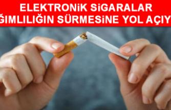 Elektronik sigaralar bağımlılığın sürmesine yol açıyor!