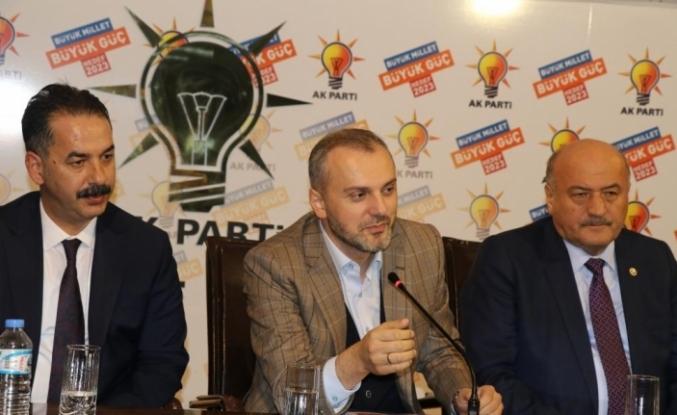 AK Partili Kandemir Erzincan'da partisinin teşkilat toplantısına katıldı