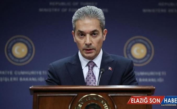 Dışişleri Bakanlığı Sözcüsü Aksoy: Barış Pınarı Harekatı'nı Sürdürme Hakkımızı Saklı Tutuyoruz
