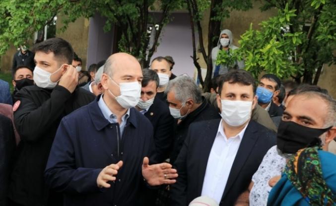 İçişleri Bakanı Soylu, depremden etkilenen Erzurum'un Çat ilçesini ziyaret etti: