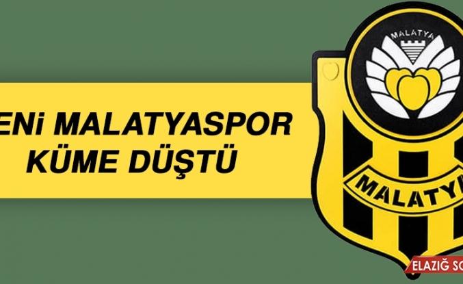 Yeni Malatyaspor Küme Düştü