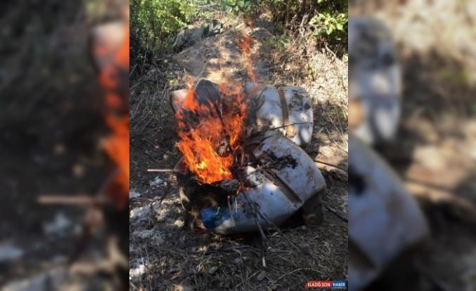 Muş'ta PKK'lı teröristlere ait gıda ve yaşam malzemeleri bulundu