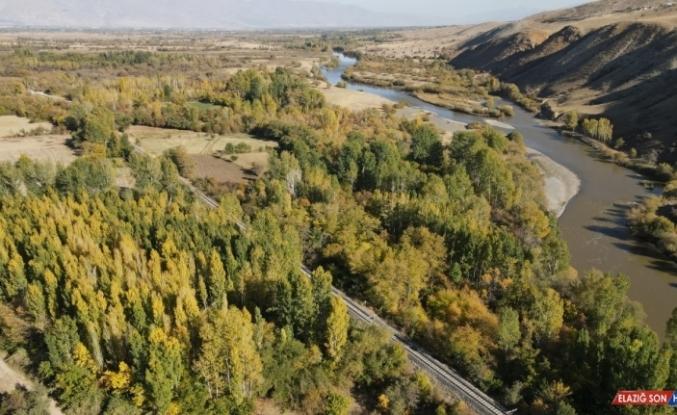 Karasu Nehri çevresindeki sonbahar renkleri güzel görüntüler oluşturdu