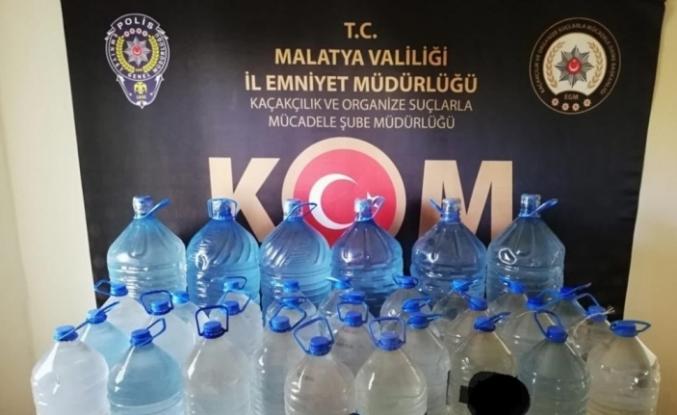 Malatya'da 269 litre sahte içki ele geçirildi