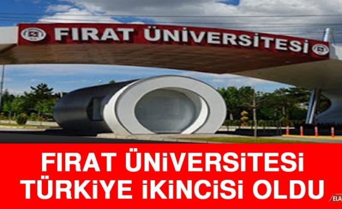 Fırat Üniversitesi Türkiye İkincisi Oldu