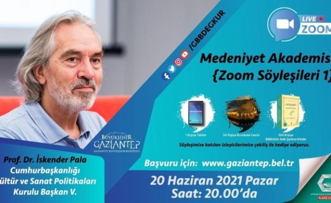 İskender Pala Büyükşehir'in medeniyet söyleşilerine katılacak